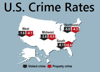 Demographic Data Easy To Read Compare And Download US - Us map of crime rates